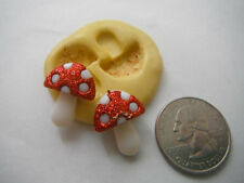 Mushrooms Flexible Silicone Mold-for polymer clay, wax, resin, candy, fondant