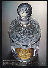 1967 Guerlain Imperiale Cologne Bottle Photo Vintage Print Ad