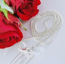 SOLID 925 STERLING SILVER CHAIN NECKLACE POPCORN 18 inch ( 45cm )