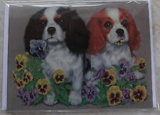 CAVALIER KING CHARLES SPANIEL CARD - LEFT BLANK FOR YOUR MESSAGE ref 1