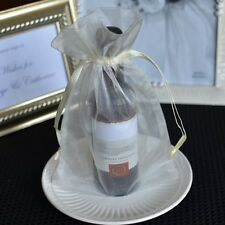 10x Large Ivory Organza Favor Pouches Wedding Gift Bags