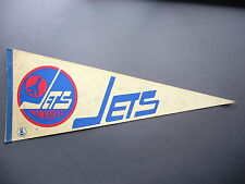 1970'S WINNIPEG JETS WHA HOCKEY PENNANT FLAG THOMAS STEEN AUTO AUTOGRAPH NICE!!