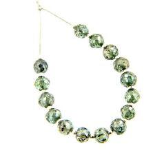 Certified 14 Cts 5mm Loose Blue Diamond Beads.15 Pcs Diamonds