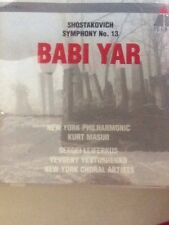 "Dmitri Shostakovich: Symphony No. 13 ""Babi Yar"" (CD, Aug-1992, Teldec (USA))"