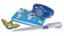 Time Design Pilot Watch Badge Pen Flight Log Book Set Children Kids Boys Girls