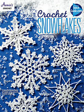 Snowflakes Christmas Tree Ornament Holiday  Lacy Crochet Pattern Booklet