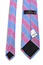 BROOKS BROTHERS 346 New 100% Silk Blue / Purple Striped Neck Tie For Men