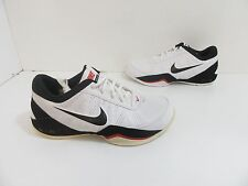 Men's Nike Air Ring Leader Low Basketball Shoes White/Black Size 8 M