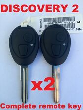 2x Discovery 2 Land Rover Remote Complete Key Blank 433mhz Ready for programming