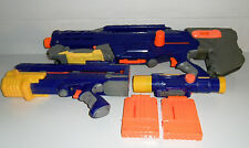 NERF N-Strike Sniper CS-6 LONGSHOT Sniper Rifle 2 Clips Front Gun Scope COMPLETE