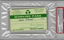 1965-1966 Boston Celtics Win 9th Title GM7  PSA Ticket Pass/Red Auerbach Last GM