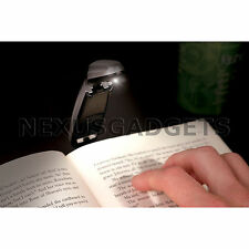 Book Light Clip Adjustable Bright Reading Folding LED Lamp Flexible Booklight fs