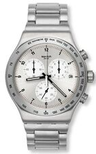 Swatch DESTINATION ZURICH Stainless Steel Chronograph Mens Watch YVS433G