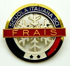 Spilla Scuola Italiana Sci - Frais (Bertoni Milano) cm 3,8 x 3,5