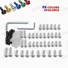 Silver Fairing Bolts Fastener Clips Screws Fit Yamaha YZF R6S 2006 2007 2008