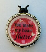 v You make my heart flutter LOVE BUG LADYBUG FIGURINE love message ganz