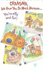 "Greeting Card - Birthday -  ""GRANDMA, WE LOVE YOU..."" - by Carlton Cards!"