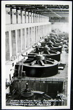 GRAND COULEE DAM WA~1940's INTERIOR WEST POWER HOUSE~GENERATORS~ ELLIS RPPC
