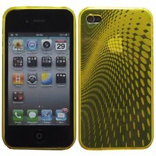 Hybrid Silicone Gel Wave Patterned Case for Apple iPhone 4