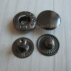 10 or 25 Sets Leather Black Rapid Rivet Button Snap Fastener KAM 3/8