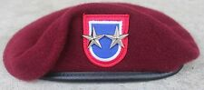 Authentic New 82nd Airborne Division Commander Maroon Beret, Major General