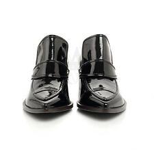 Chanel DG29497 Black CC Logo Patent Leather Boot 6.5 36.5 NIB $980