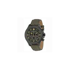 Orologio NAUTICA ref.A18684G Uomo  pelle verde army chronograph sub 100mt Uhr