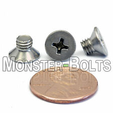 M5 x 6mm - Qty 10 - Stainless Steel DIN 965 Phillips FLAT HEAD Machine Screws A2