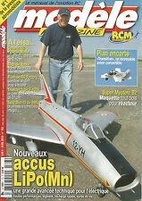 """MODELE MAG-RCM N°703 PLAN : """"TRANSITION"""" / MYSTERE B2 / ACCUS LIPO(Mn) / CESSNA"""