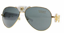 New Versace Sunglasses Unisex Aviator VE 2150Q White 1341/87 VE2150Q 62mm 134187