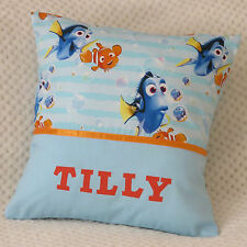Finding Dory Child's/Boys/Girls Personalised Name Character Cushion Cover