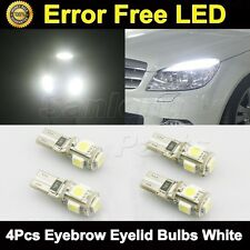 4x White Error Free Eyebrow Eyelid Light LED Bulb for Mercedes Benz W204 C350
