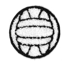 Volleyball - Sports - PE - Gym - Coach - Embroidered Chenille Iron On Patch