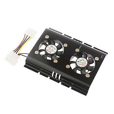 Dual Cooling Fan PC SATA IDE 3.5 HARD DISK DRIVE HDD COOLER