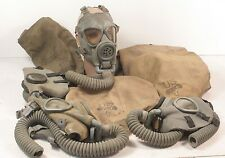 WWII US Gas Masks with Storage Bag Missing Filter-- Good to Excellent Condition