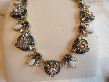Exquisite Natasha Blue Pop Holly Gold Tone Choker Statement  Necklace Bridal NWT