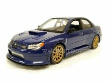 WELLY 1:24 DISPLAY 2005 SUBARU IMPREZA WRX STI DIECAST CAR BLUE 22487NS-4D