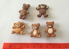 Cuddly brown teddy bears stuffed with love Novelty Buttons by Dress It Up 7694