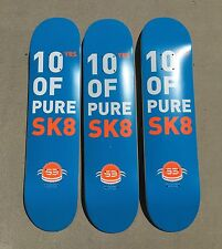 "LOT OF 3 S3 skateboard deck 7.375"" great deal quality NICE PRICE BARGAIN"