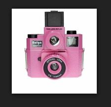 Pink Holga 120GTLR GTLR Twin-Len Reflex lomo 120 Medium Format Toy Art Camera