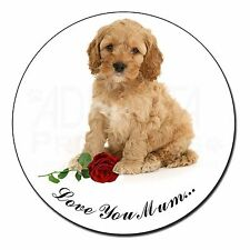 Cockerpoodle+Rose 'Love You Mum' Fridge Magnet Stocking Filler Chr, AD-CP6RlymFM