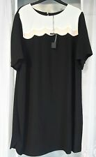 "EX M&S Women's New Short Sleeve Long Dress Black Size 26 Only RRP £ 45 40"" long"