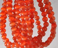 Free ship 15PCS orange color cat eye round loose beads 8MM