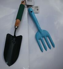 Gardening Hand Trowel-Spade + Fork (4 colours to choose) + 60m String.3pc Set