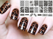 BORN PRETTY Nail Art Stamping Template Lace Flower Pattern Image Plate BP-L020