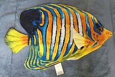 "Tropical Fish Orange Blue Colorful Pillow Cover   32"" X 20"" NEW Make Your Own"