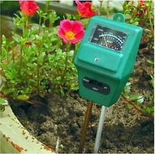 3 in 1 Gardening Soil Plant Flower Light Moisture & PH Meter Tester Analyzer