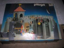 PLAYMOBIL CASTLE 3446 CATAPULT 3653 W/BOXES FIGS VINTAGE KNIGHTS TOYS