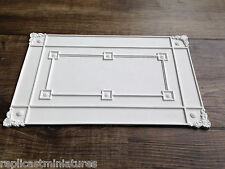 "CP67 Ceiling Panel  10 1/8"" x 6 1/2"" Plaster RepliCast Miniatures - Dolls House"