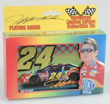 JEFF GORDON NASCAR 2 SET PLAYING CARDS IN LIMITED EDITION COLLECTIBLE TIN,N.I.B
